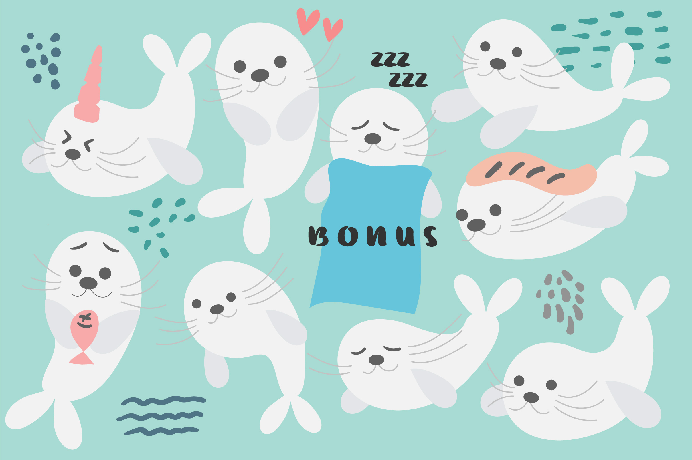 Baby Seal Font example image 3
