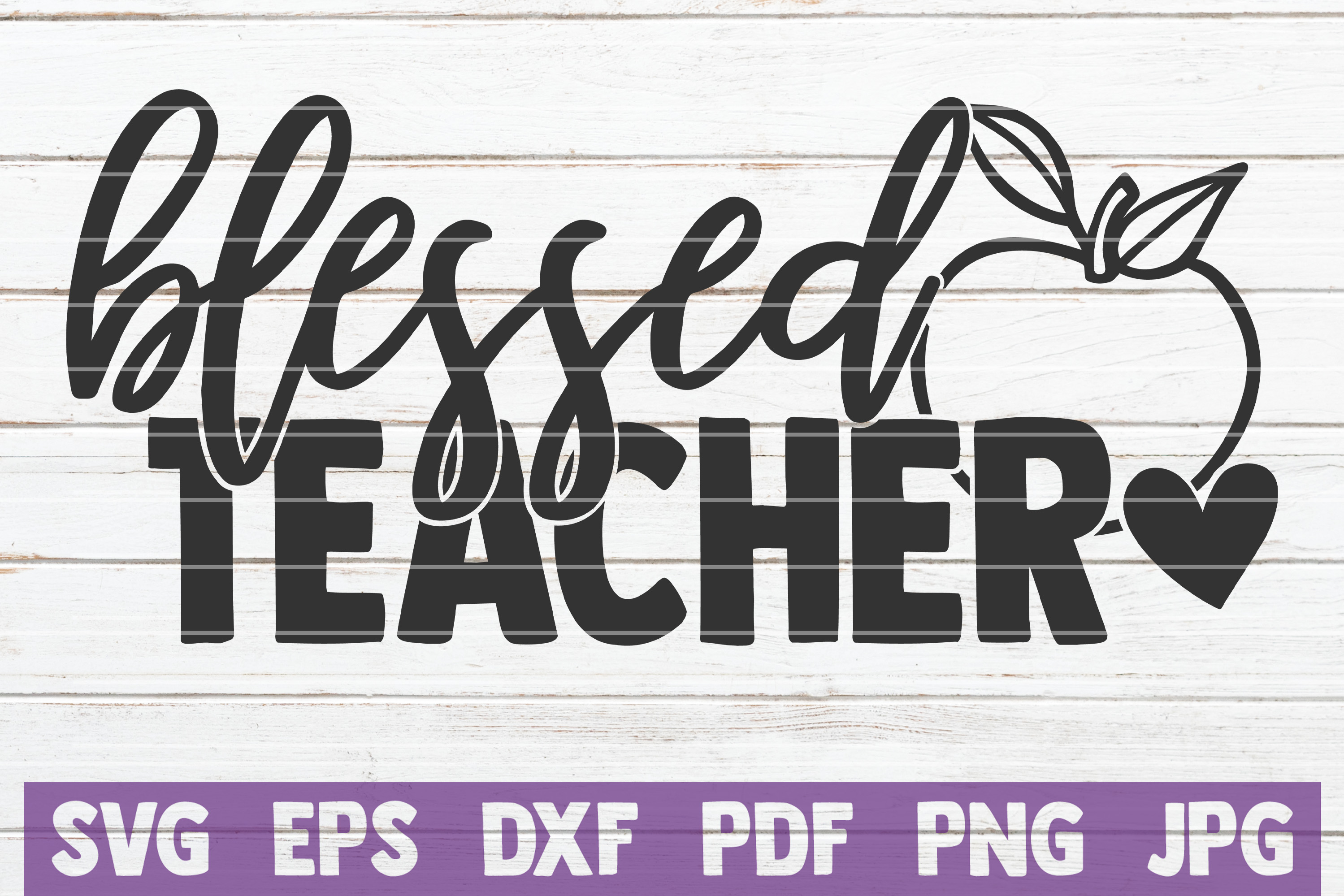 Blessed Teacher SVG Cut File | commercial use example image 1