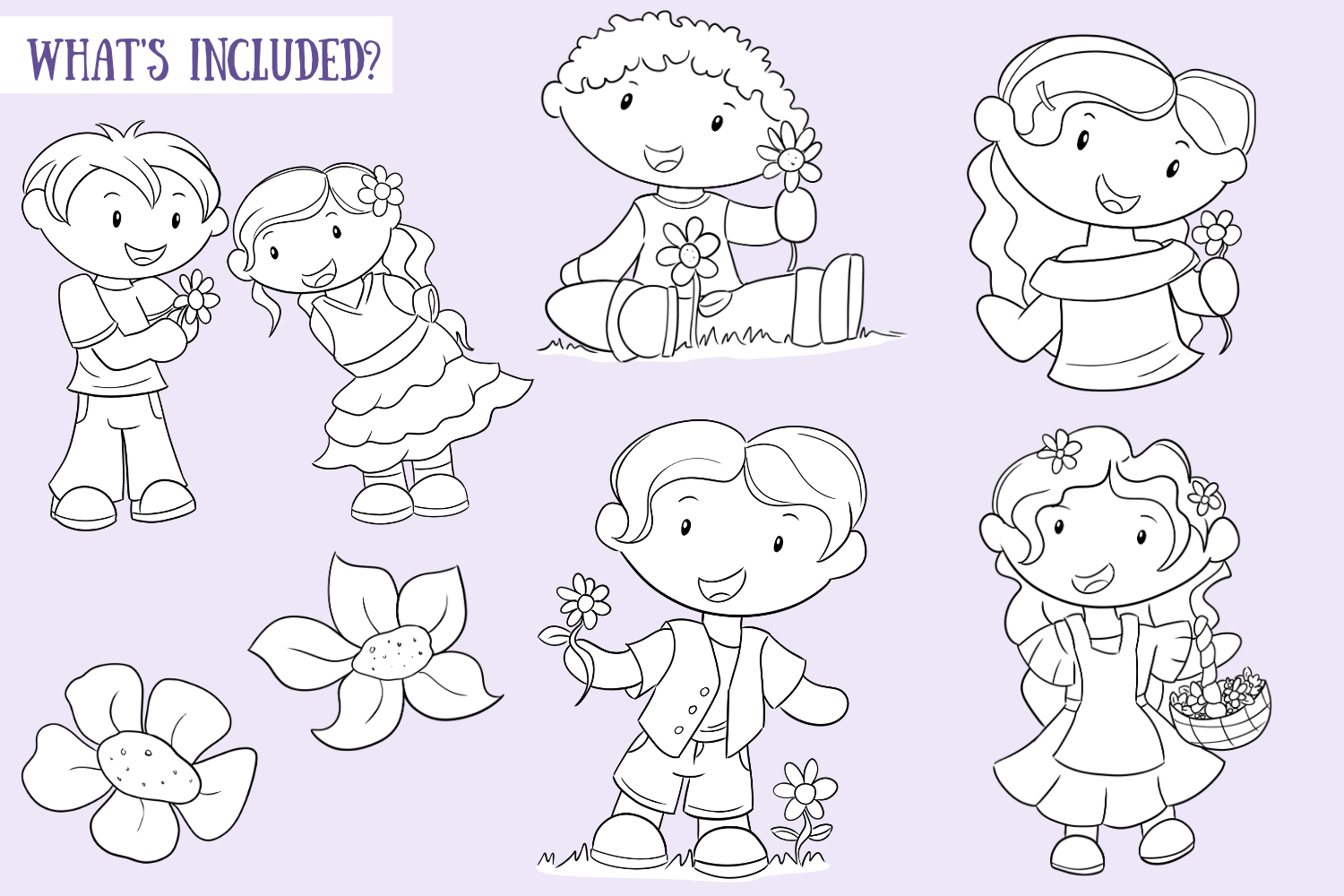 May Flowers Digital Stamps example image 2