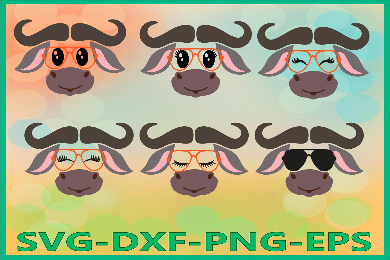 Safari Animal Svg, Buffalo face SVG, bison svg, bull svg example image 1