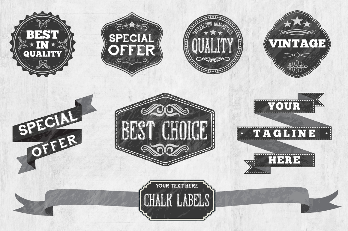 Chalk Badge Labels example image 2