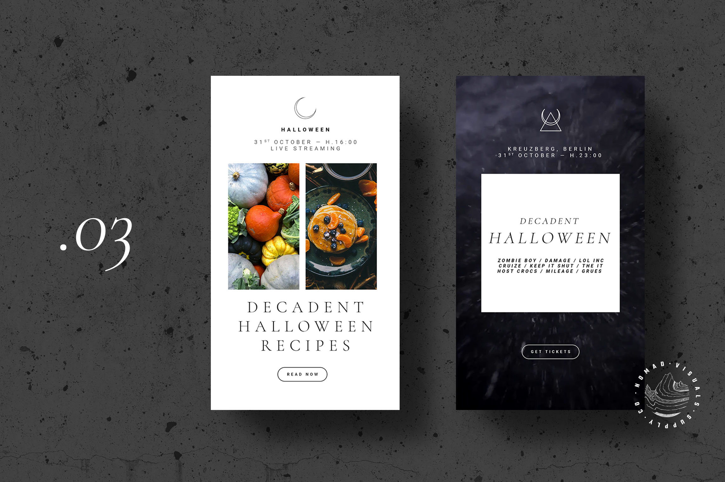 Halloween Animated Instagram Stories Templates - Event Promo example image 5