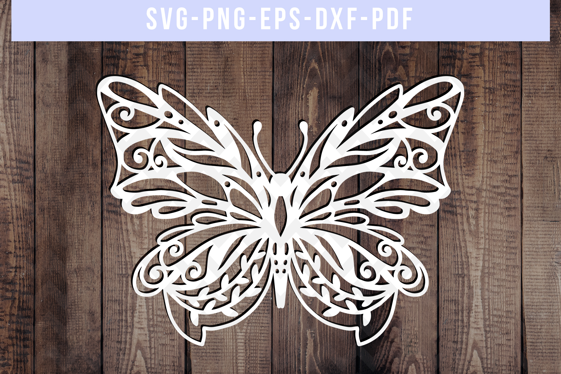 Bundle Of 9 Butterfly Papercut Templates, Paper Art DXF PDF example image 6