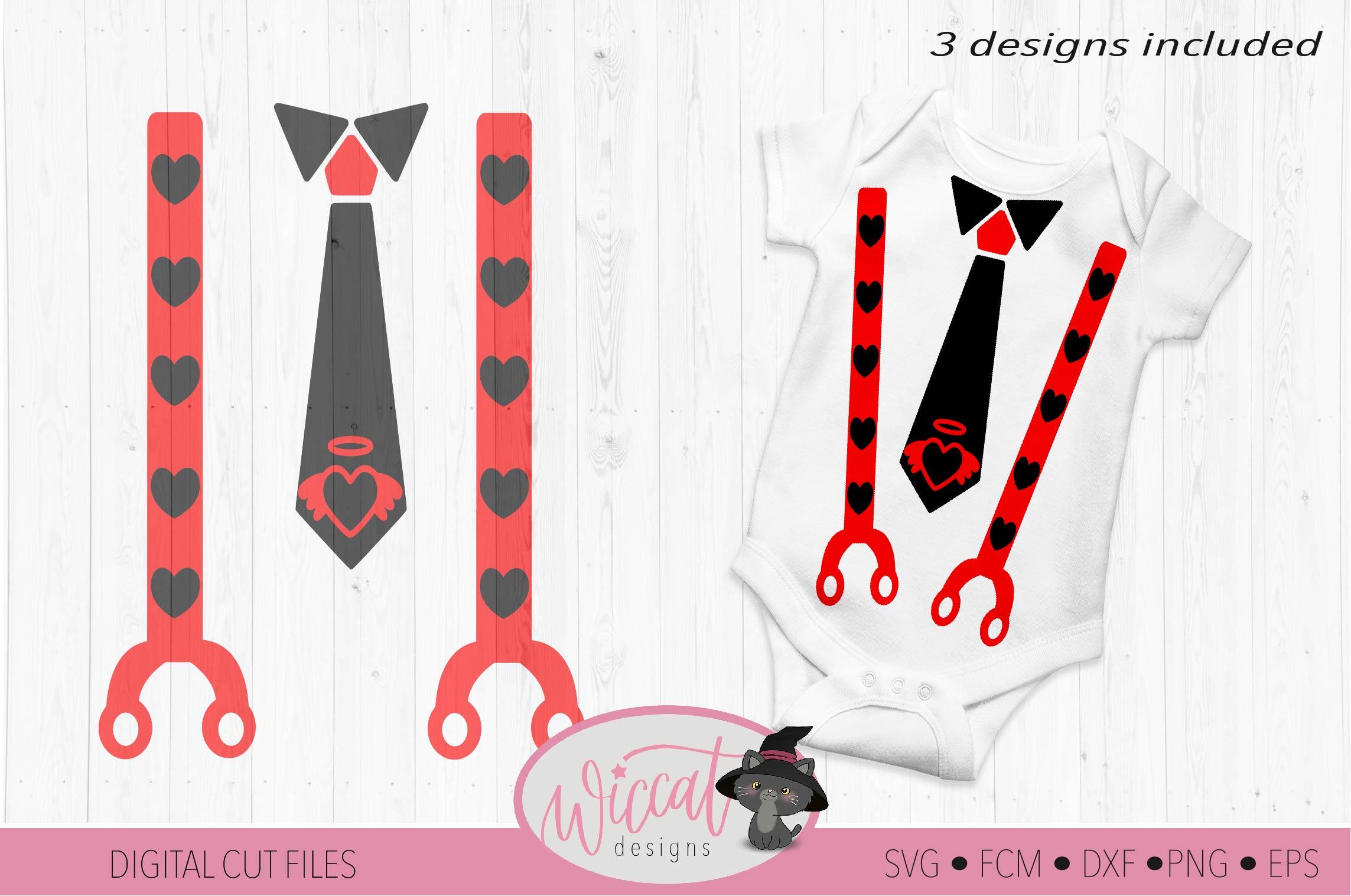 Valentine Baby tie and suspender svg example image 4