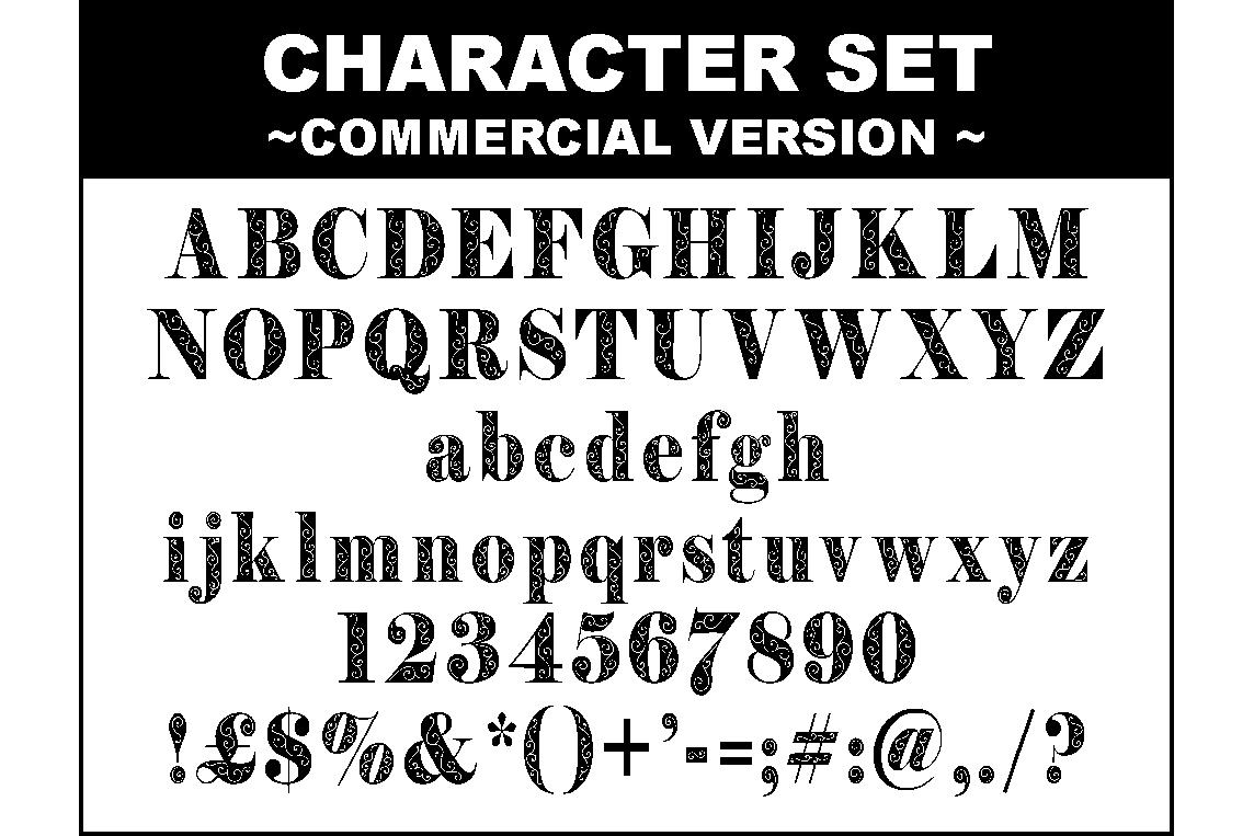 Filigran font example image 2