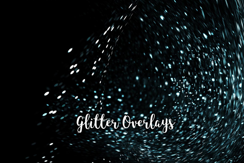 Glitter Dust Overlays, Glitter Bokeh Texture Overlays example image 8