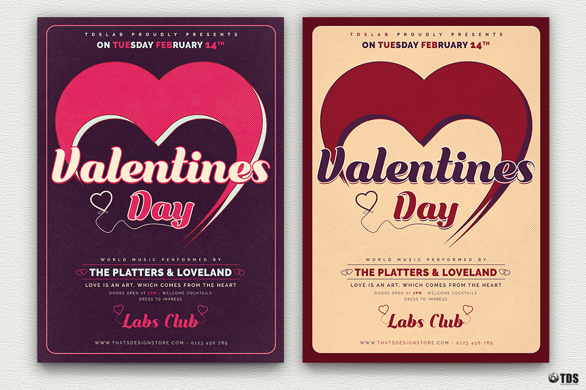 Valentines Day Flyer Template V9 example image 2