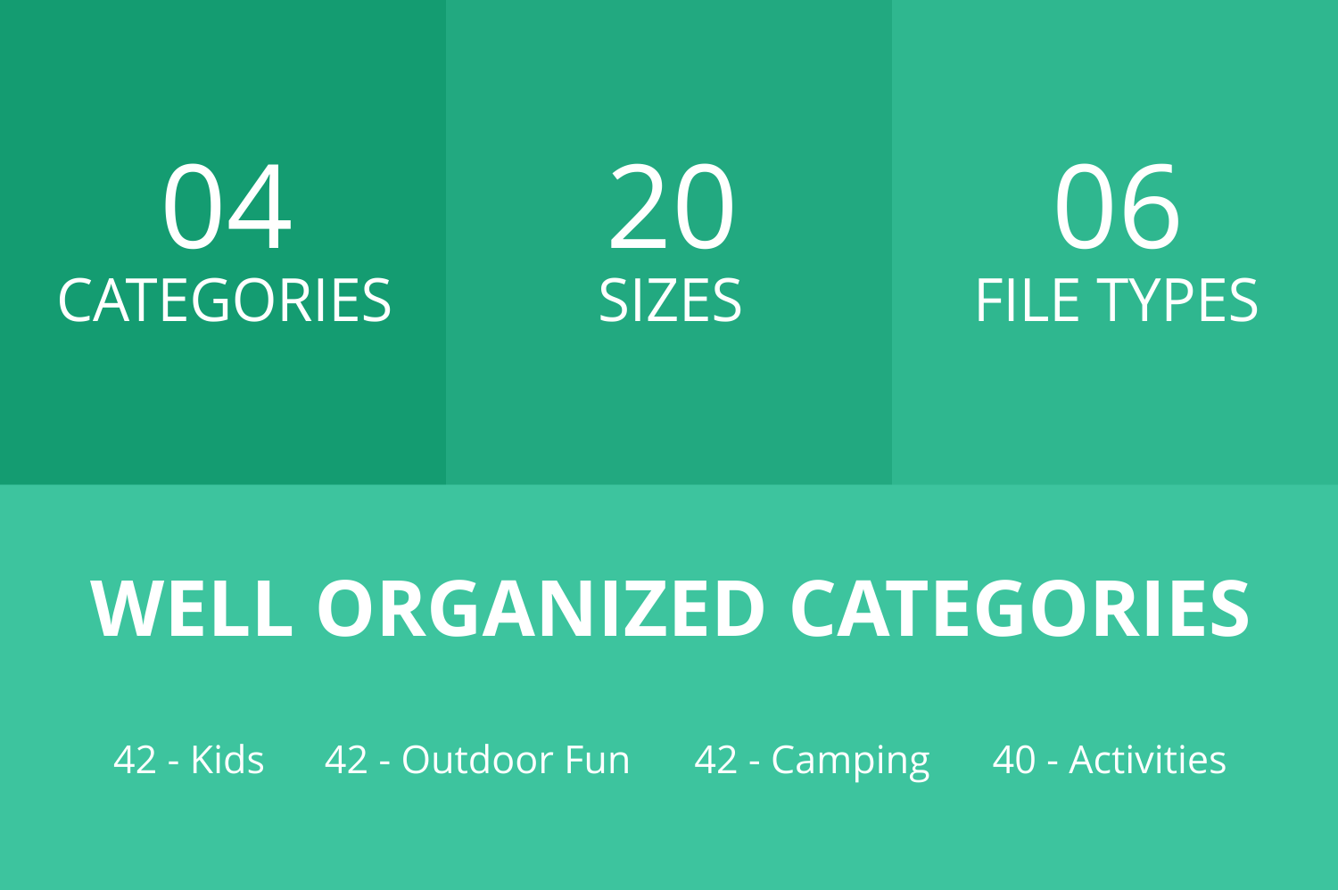 166 Activities Flat Icons example image 2