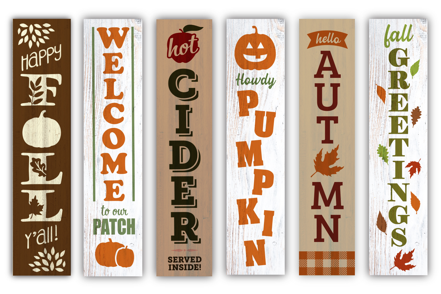 Fall / Autumn porch sign double bundle - SVG, EPS, JPG, PNG example image 3