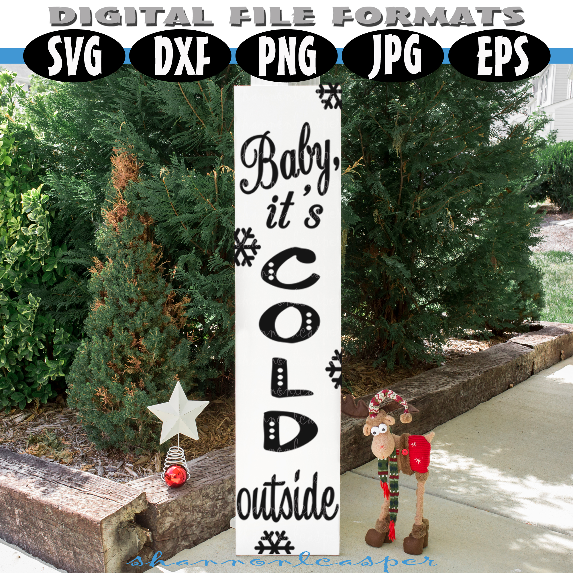 Christmas Porch Wood Sign SVG example image 3