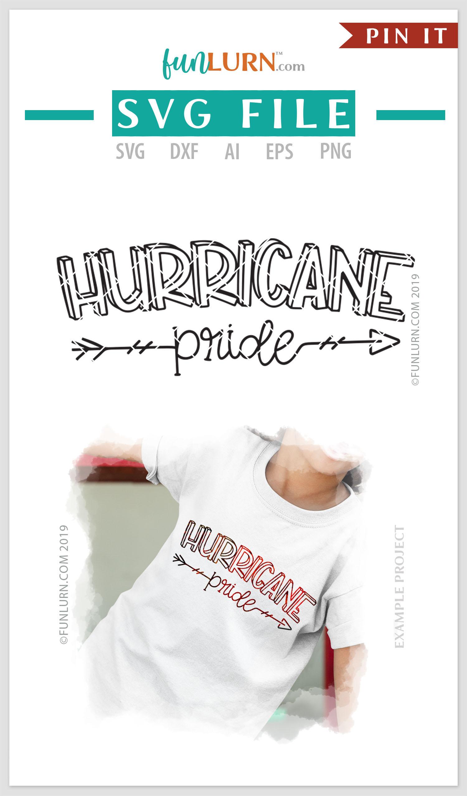 Hurricane Pride Team SVG Cut File example image 4