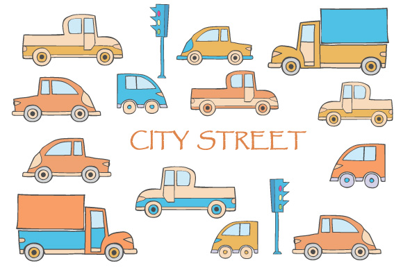 Toys vector buildings and cars example image 4