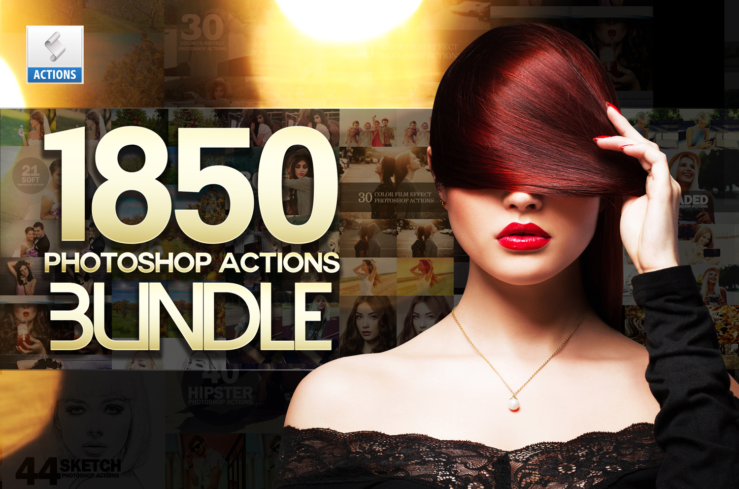 1850 Photoshop Actions example image 2