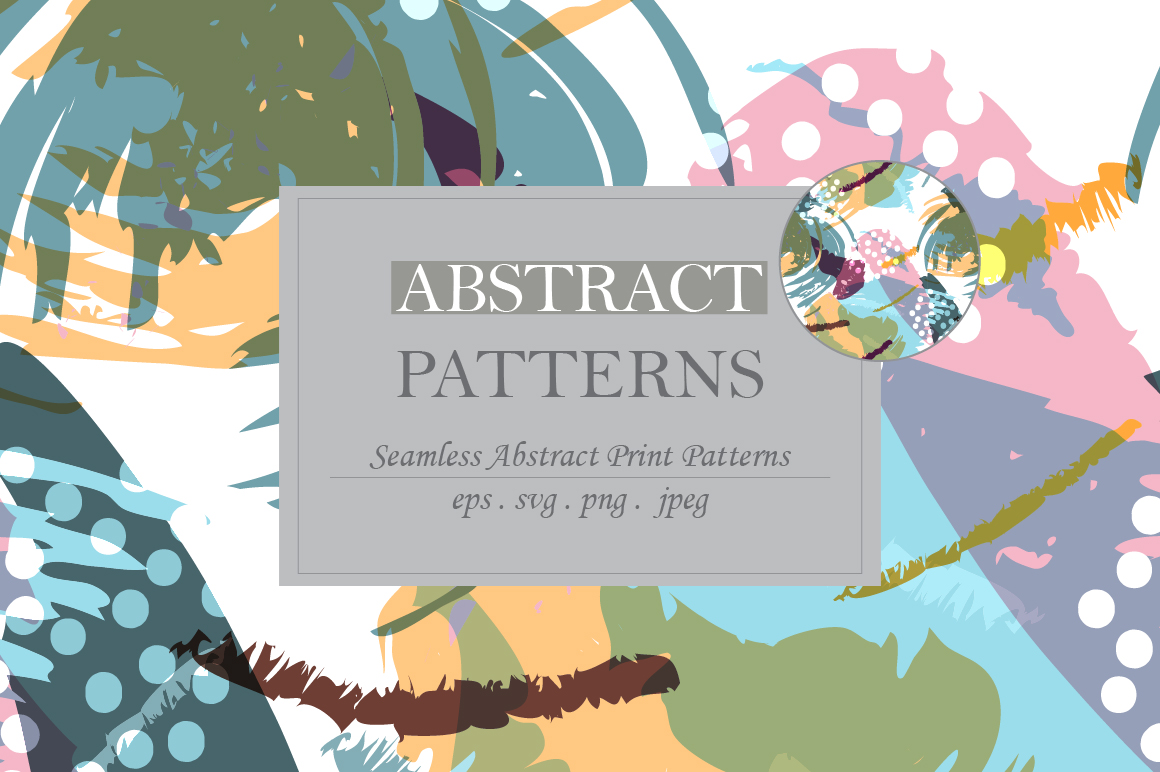 Abstract brush strokes patterns example image 2