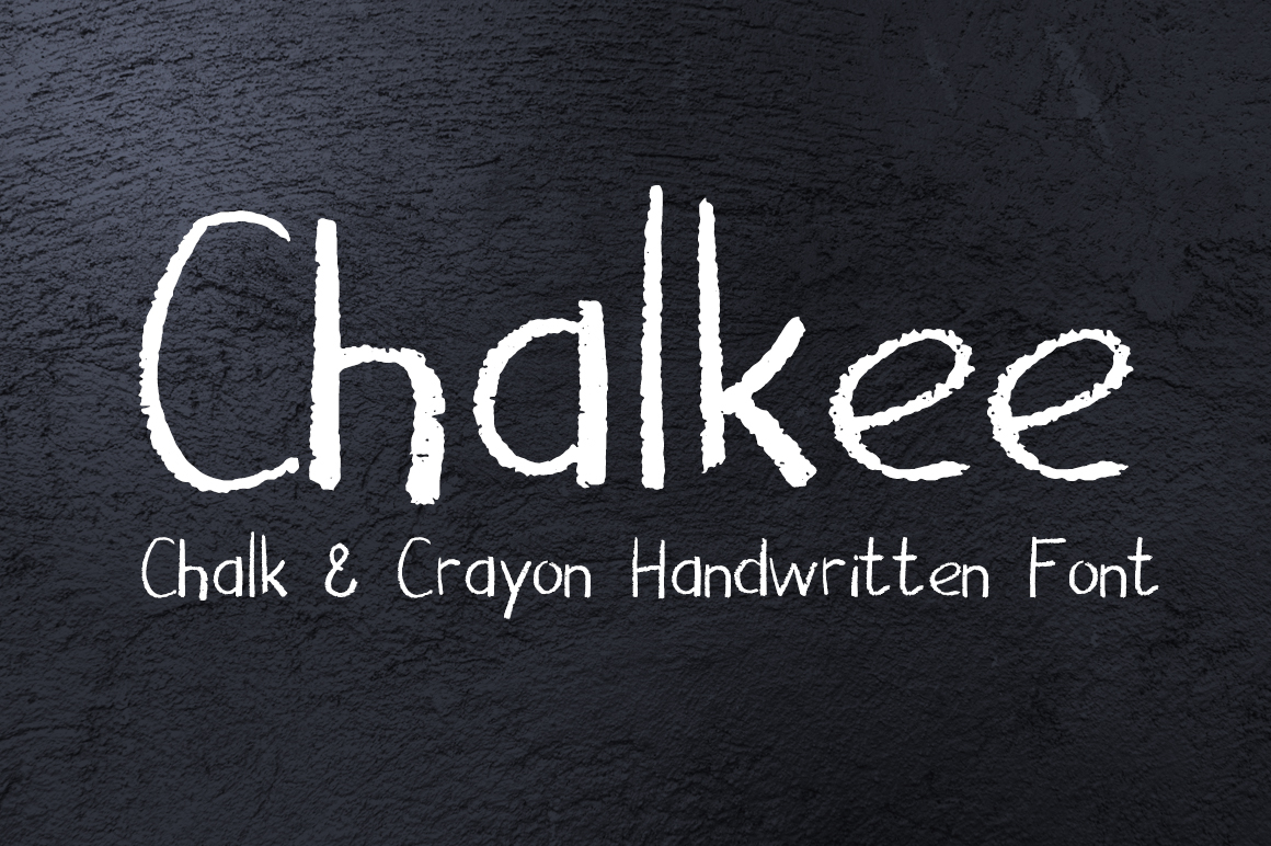 Chalkee - English and Russian Chalk Handwritten Font example image 1