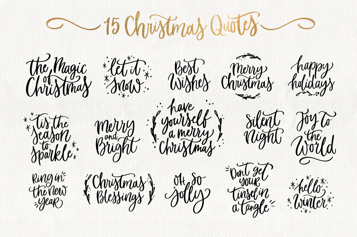Christmas Quotes Svg.Merry Christmas Svg Bundle Quotes Clipart