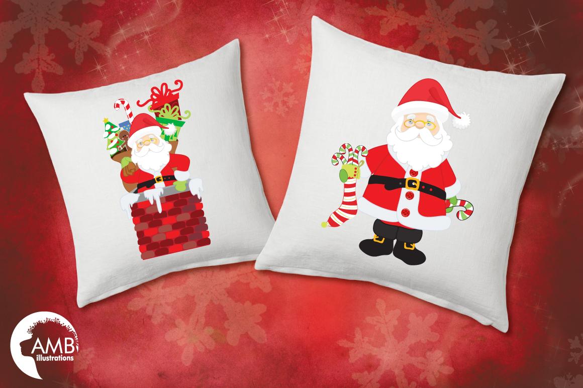 Classic Santas clipart, graphics, illustrations AMB-198 example image 3