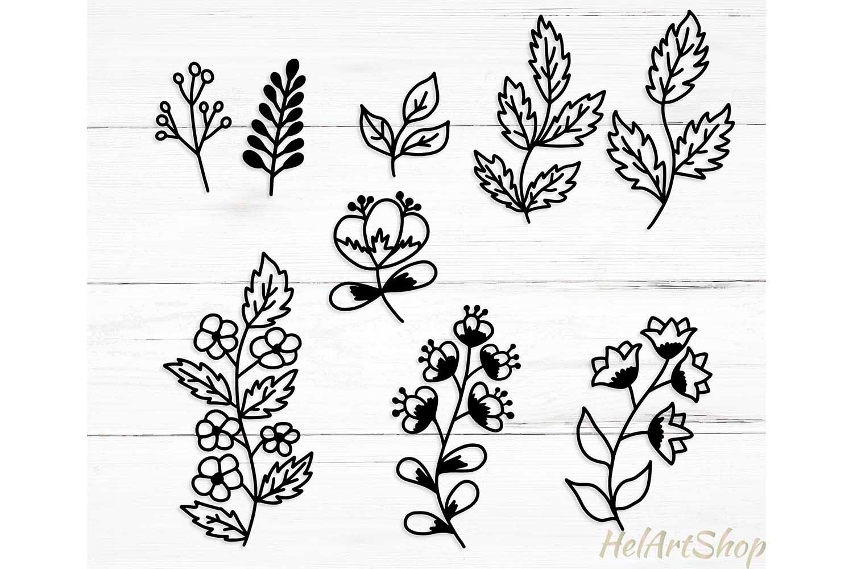 Set of leaves. Svg design example image 1
