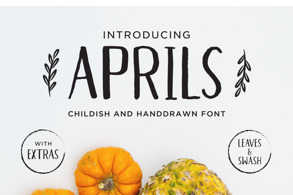 Aprils Sans Handdrawn Font example image 1