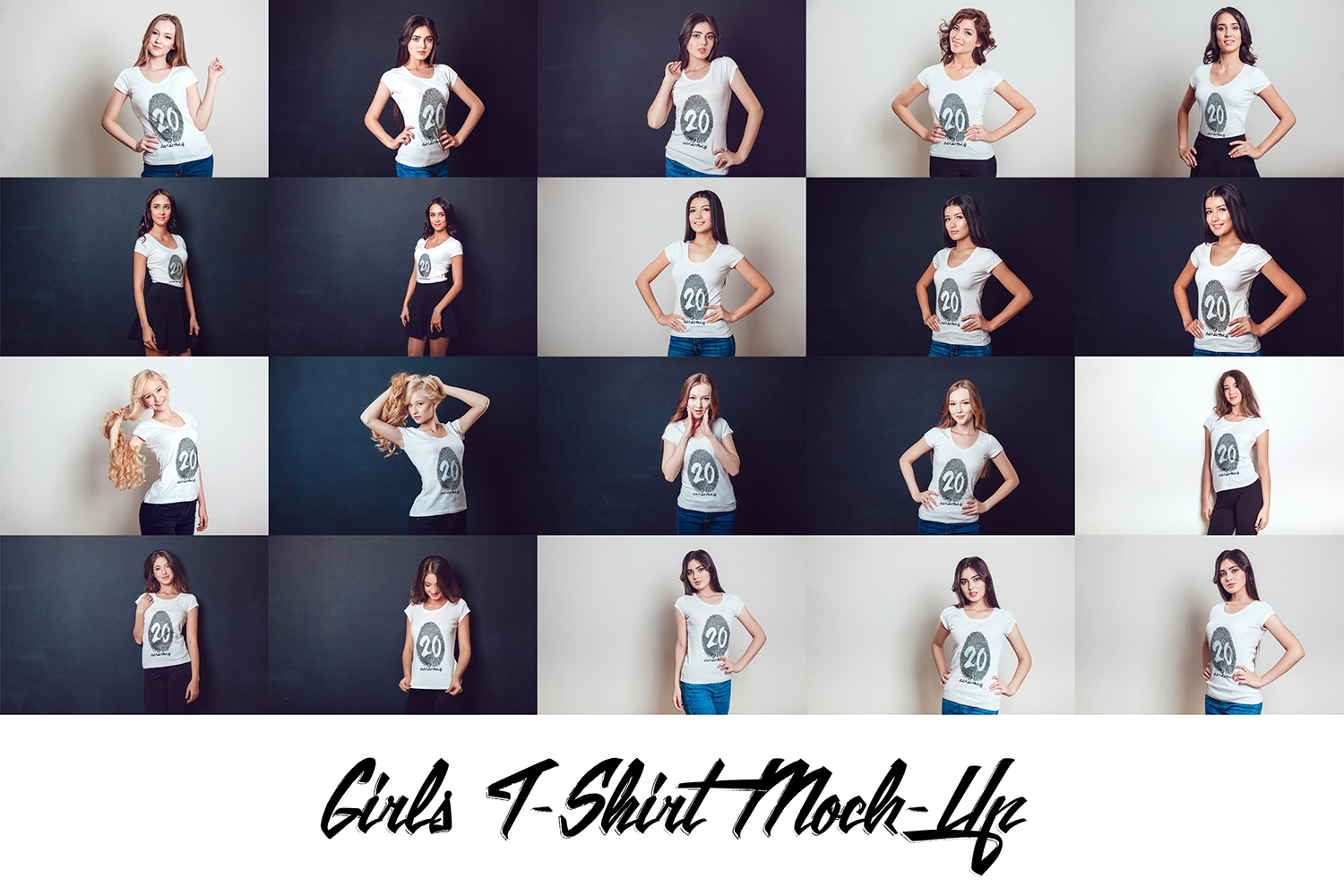20 Top Girls T-Shirt Mock-Up example image 5