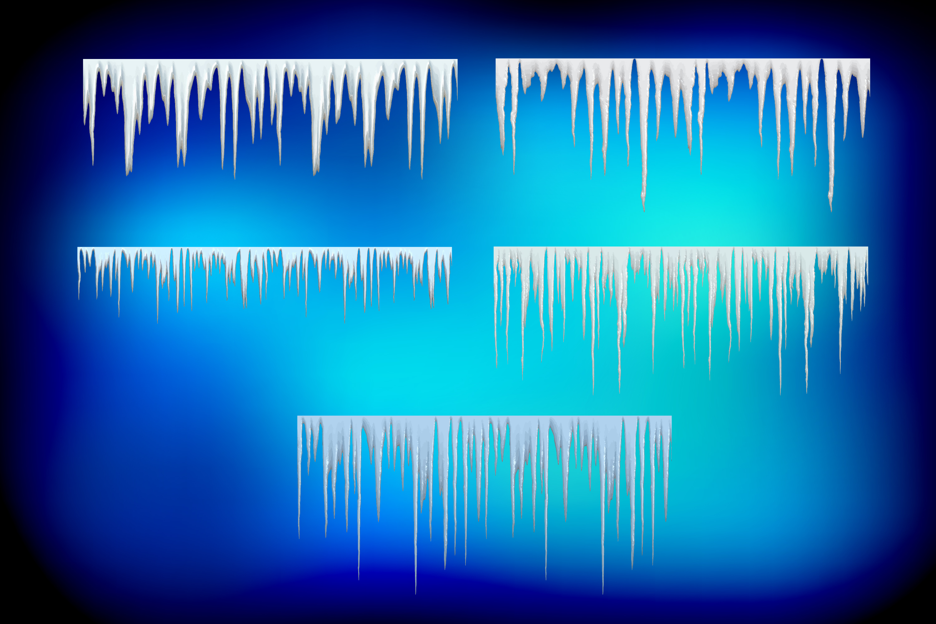 10 Icicle Vector Illustrator Pattern Ice Brushes example image 3