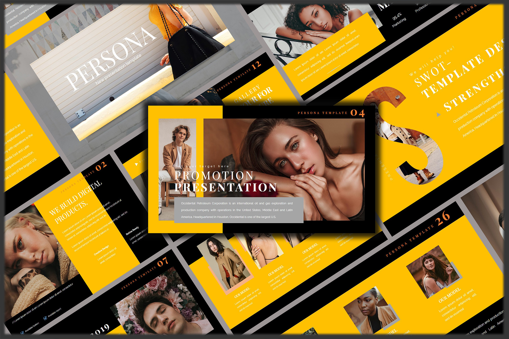Pesona Dark Lookbook Keynote Template example image 7