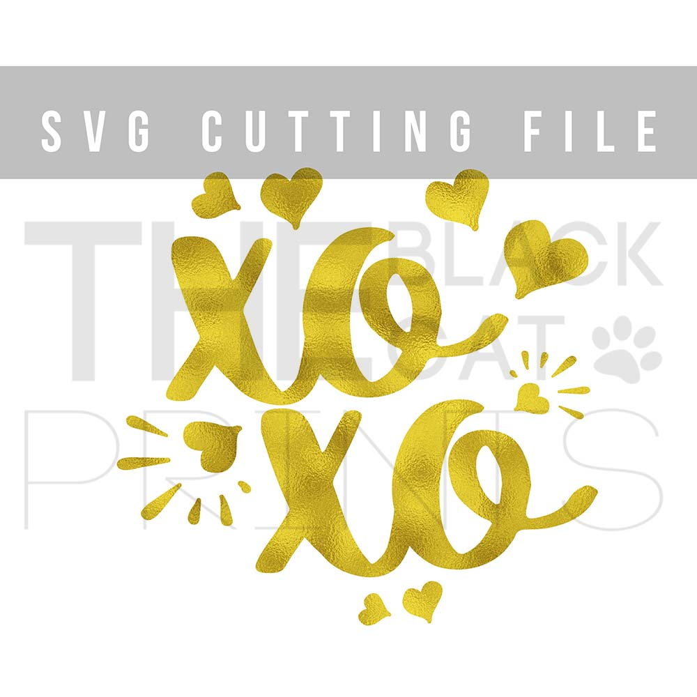 XOXO Svg Hugs and kisses SVG PNG EPS DXF Hearts svg design example image 3