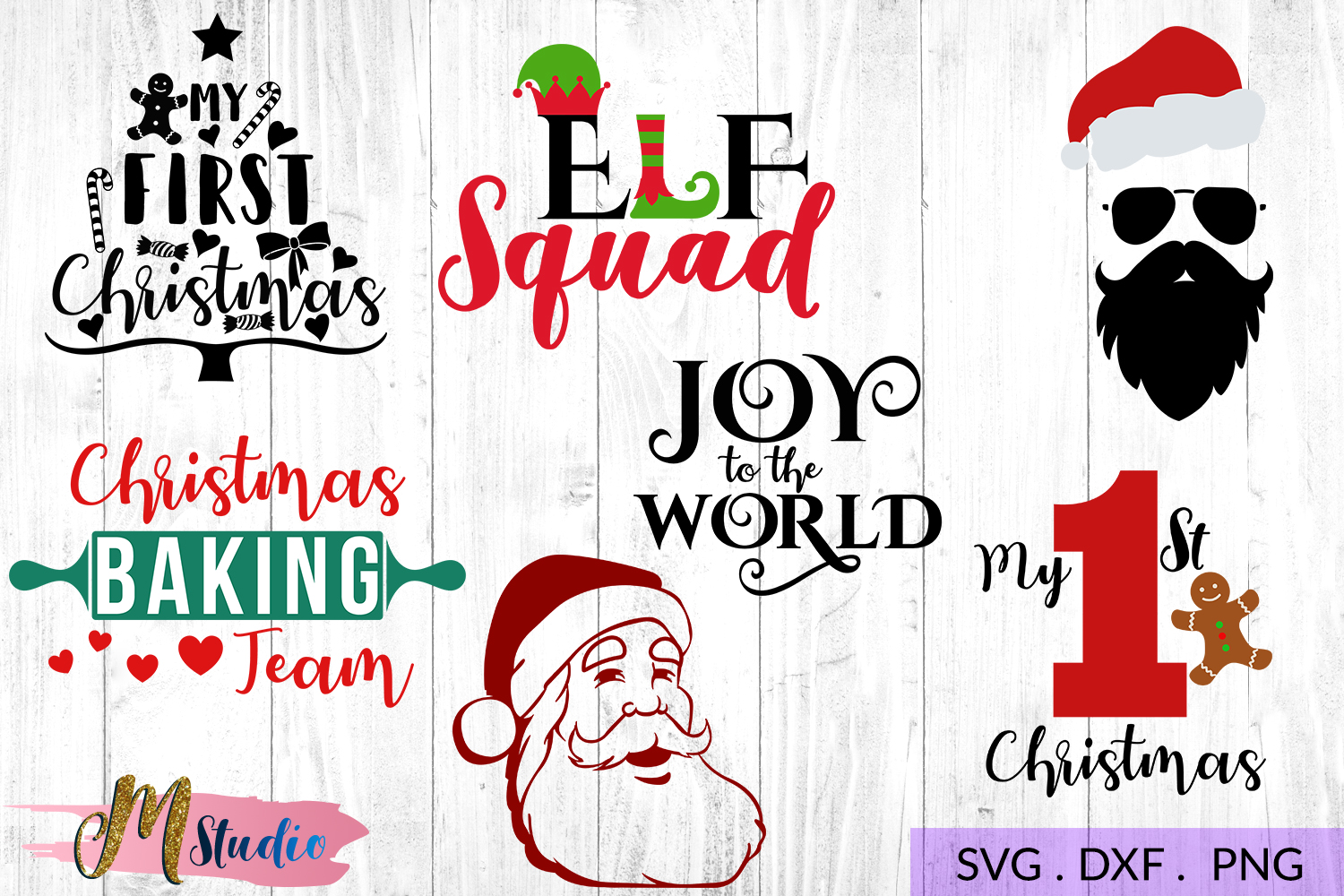 The big christmas svg bundle, Christmas SVG Cut File. example image 6