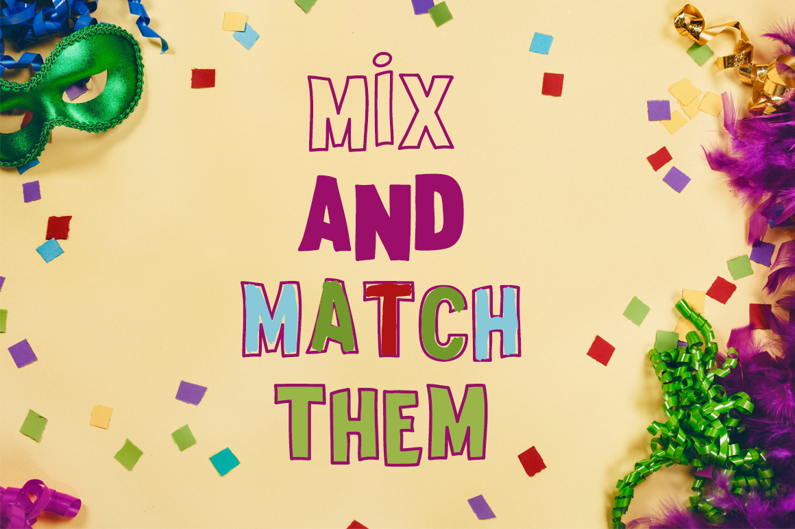 Surprise Party Font Family for Kids, Birthdays and Fun! example image 2