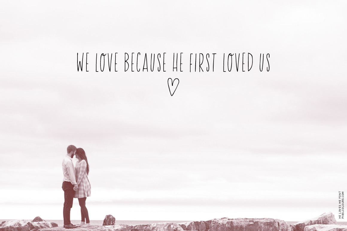 He Loves Me Skinny Font example image 2