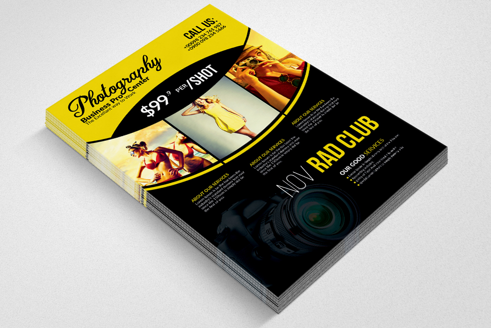 Professional Photography Flyer Template example image 2