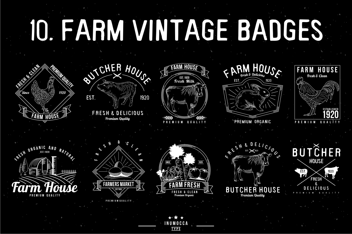 BIG BUNDLE Vintage Badges example image 10