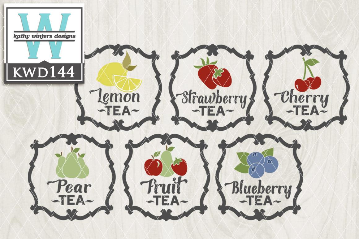 Tea Cutting File KWD144 example image 1
