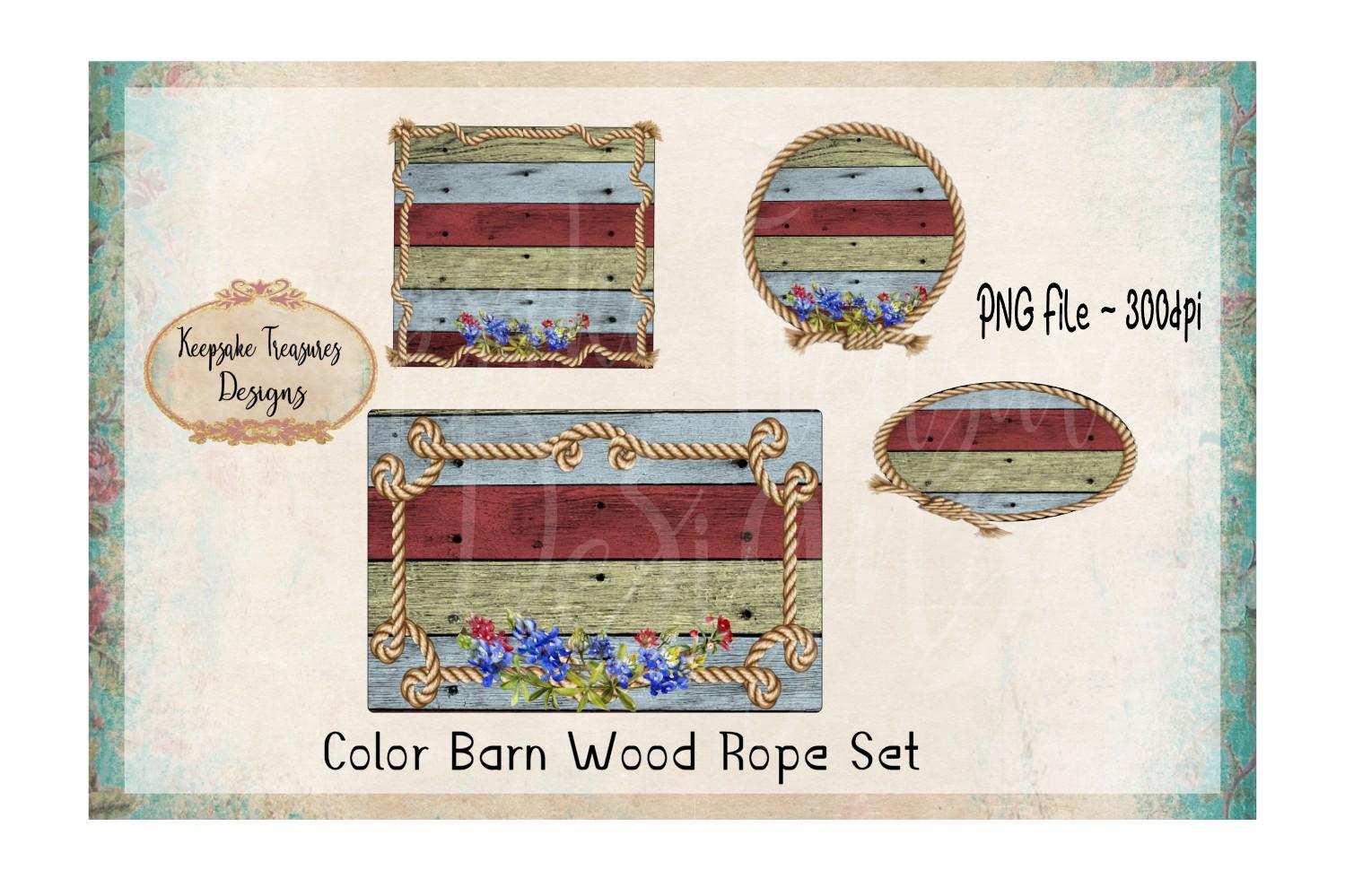 Background Splashes, Color Barn Wood Rope, Set of 4 example image 1