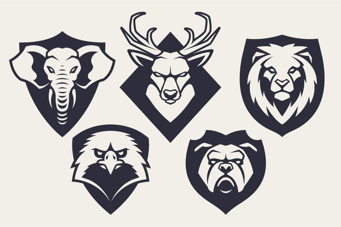 Animals Mascot Icons Vector Set example image 9