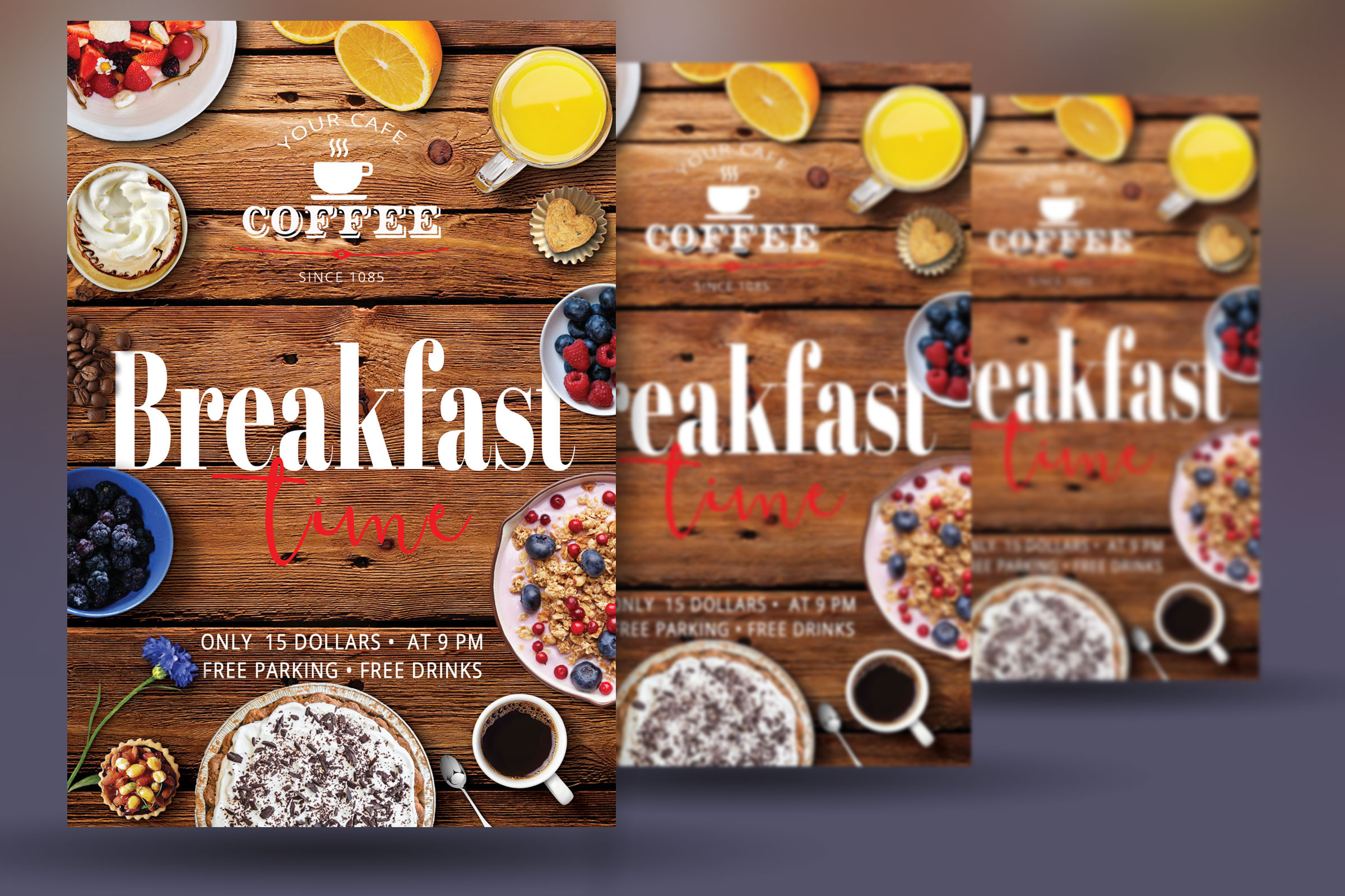 Breakfast Time Flyer example image 4