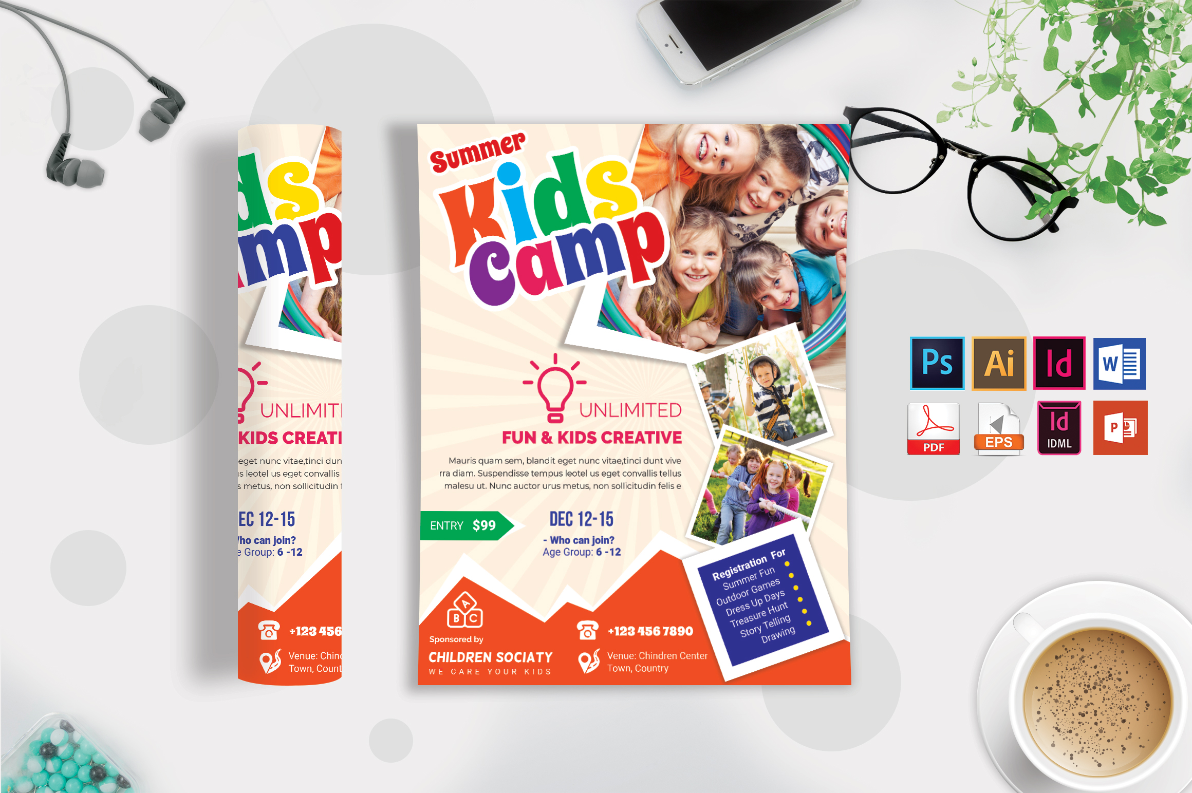 Kids Summer Camp Flyer Vol-08 example image 3