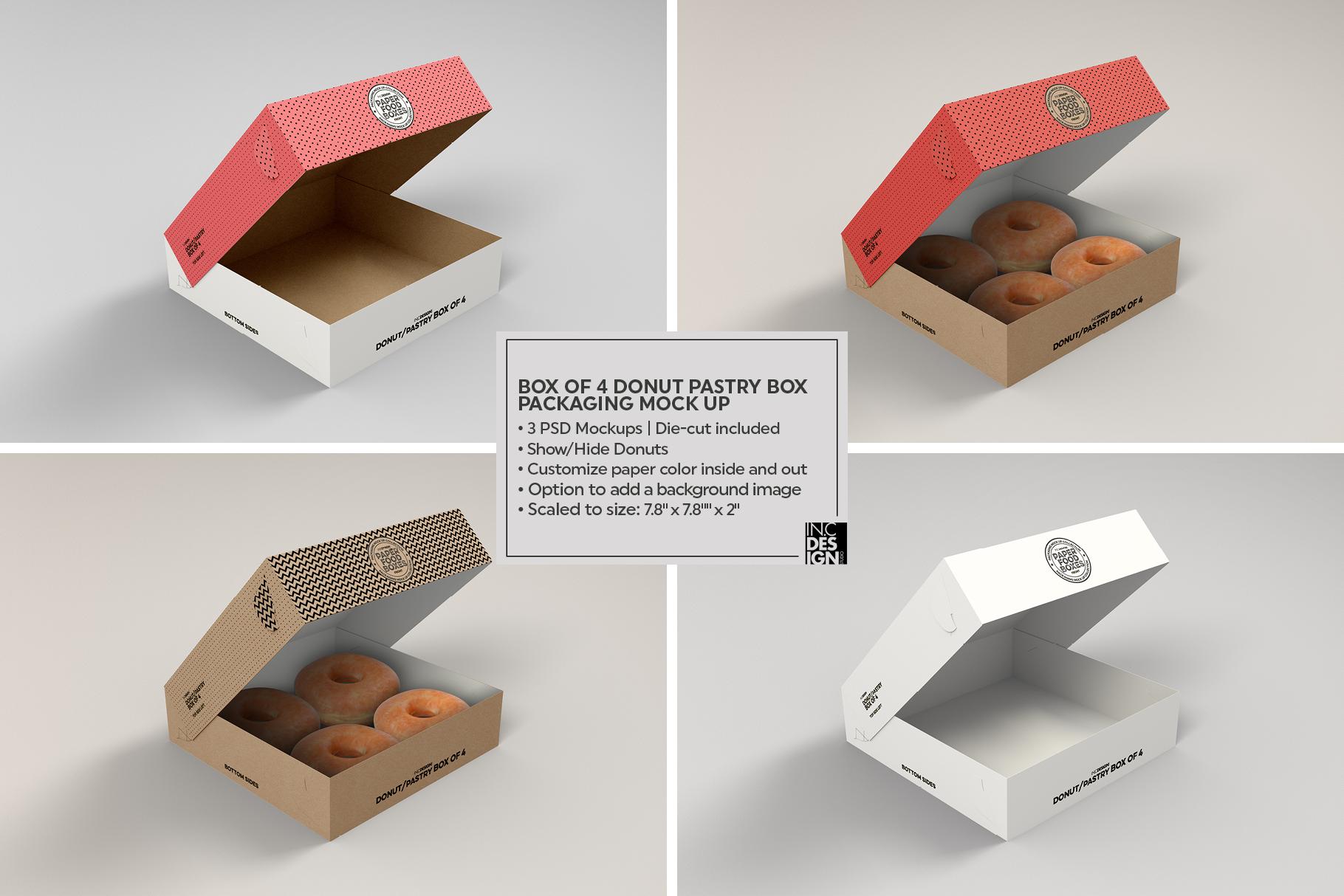 VOL.11 Food Box Packaging MockUps example image 22