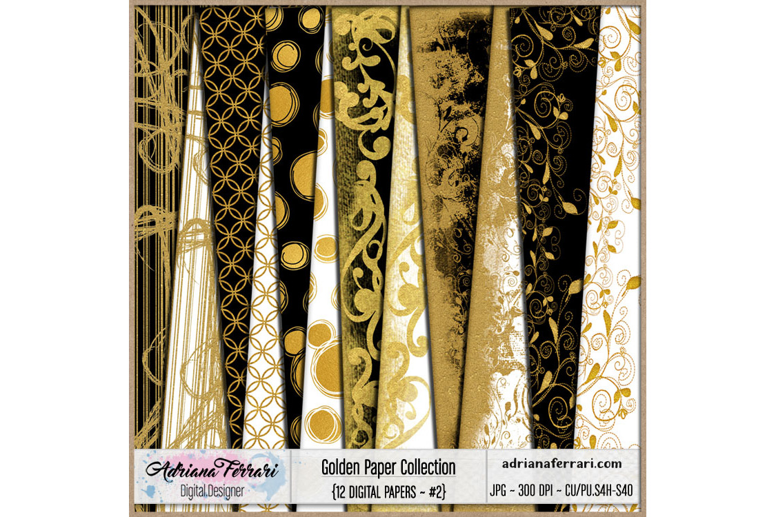 Golden Paper Collection - Paper 2 example image 1