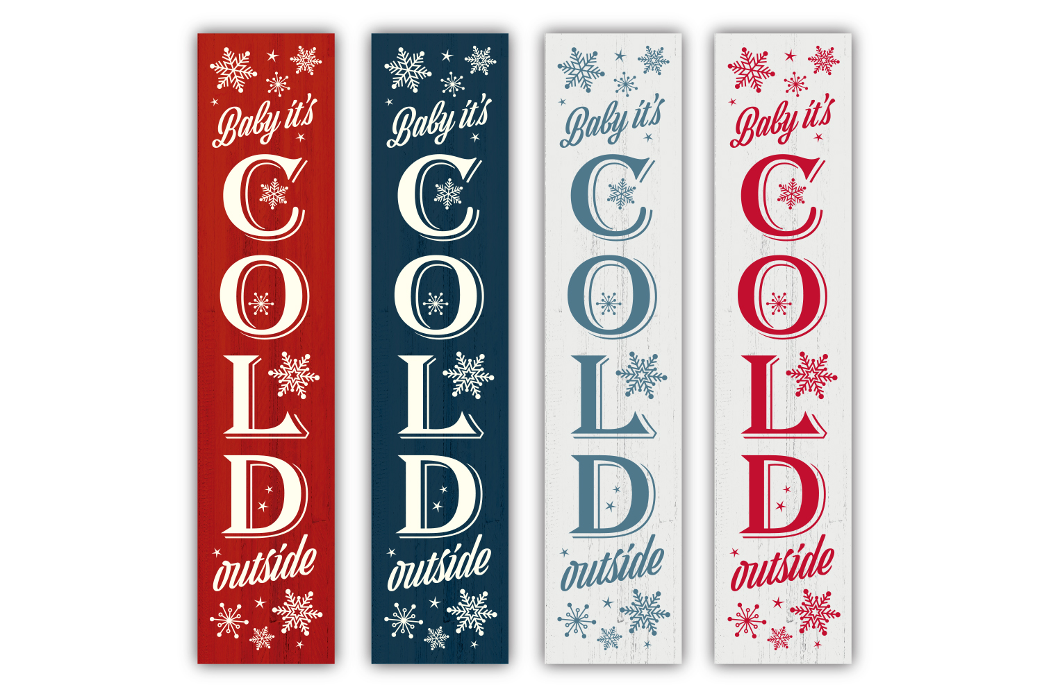 Christmas Winter porch sign bundle - SVG, EPS, JPG, PNG, DXF example image 3