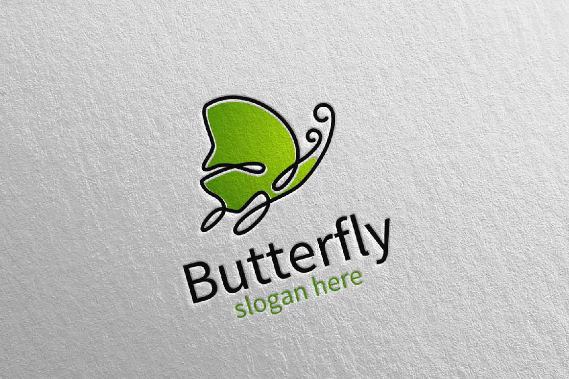 Butterfly Logo vol 17 example image 2