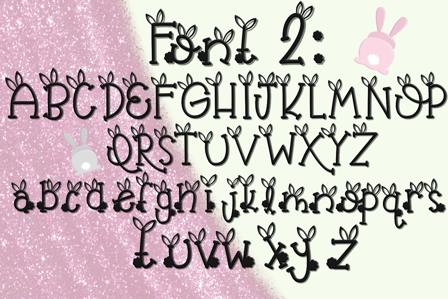 Bunny Butt Font Duo example image 4