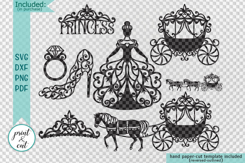 Wedding Princess Bride Bundle cut out svg dxf templates example image 2