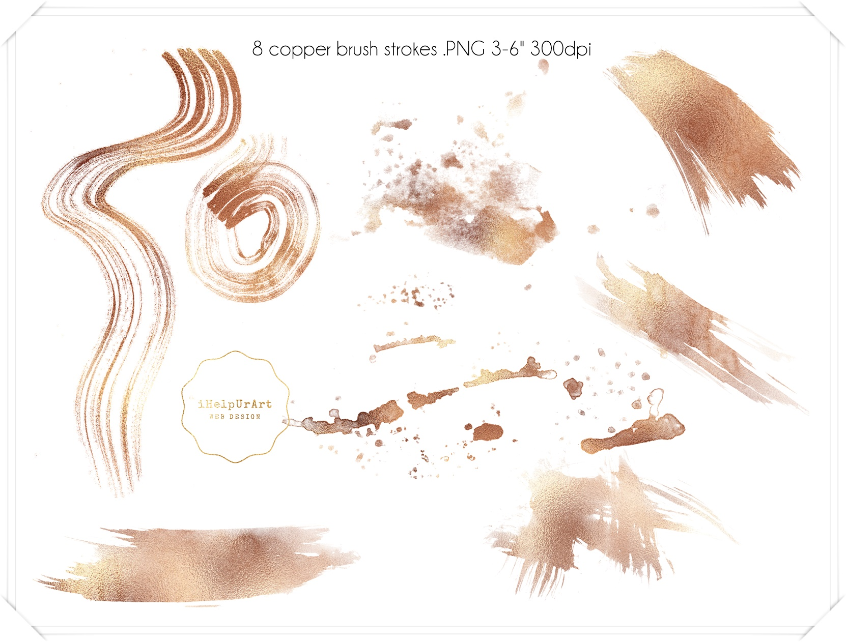 Copper and Watercolor Design Kit example image 5