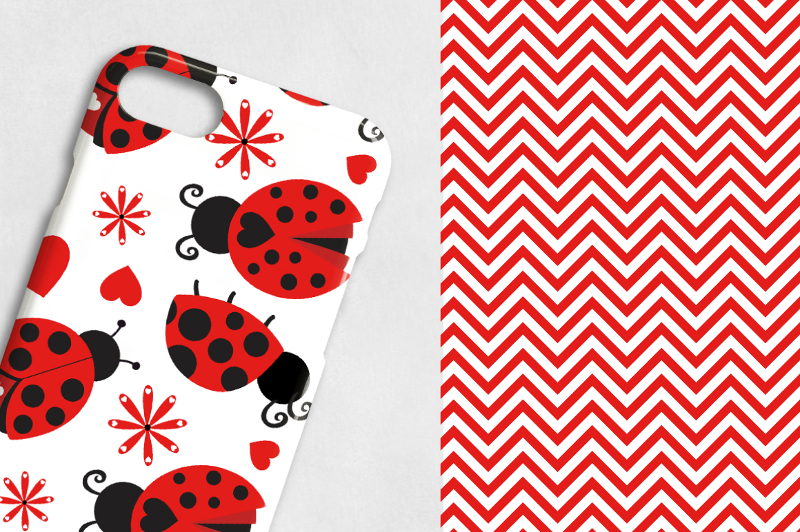 Lady Bug, digital papers example image 2