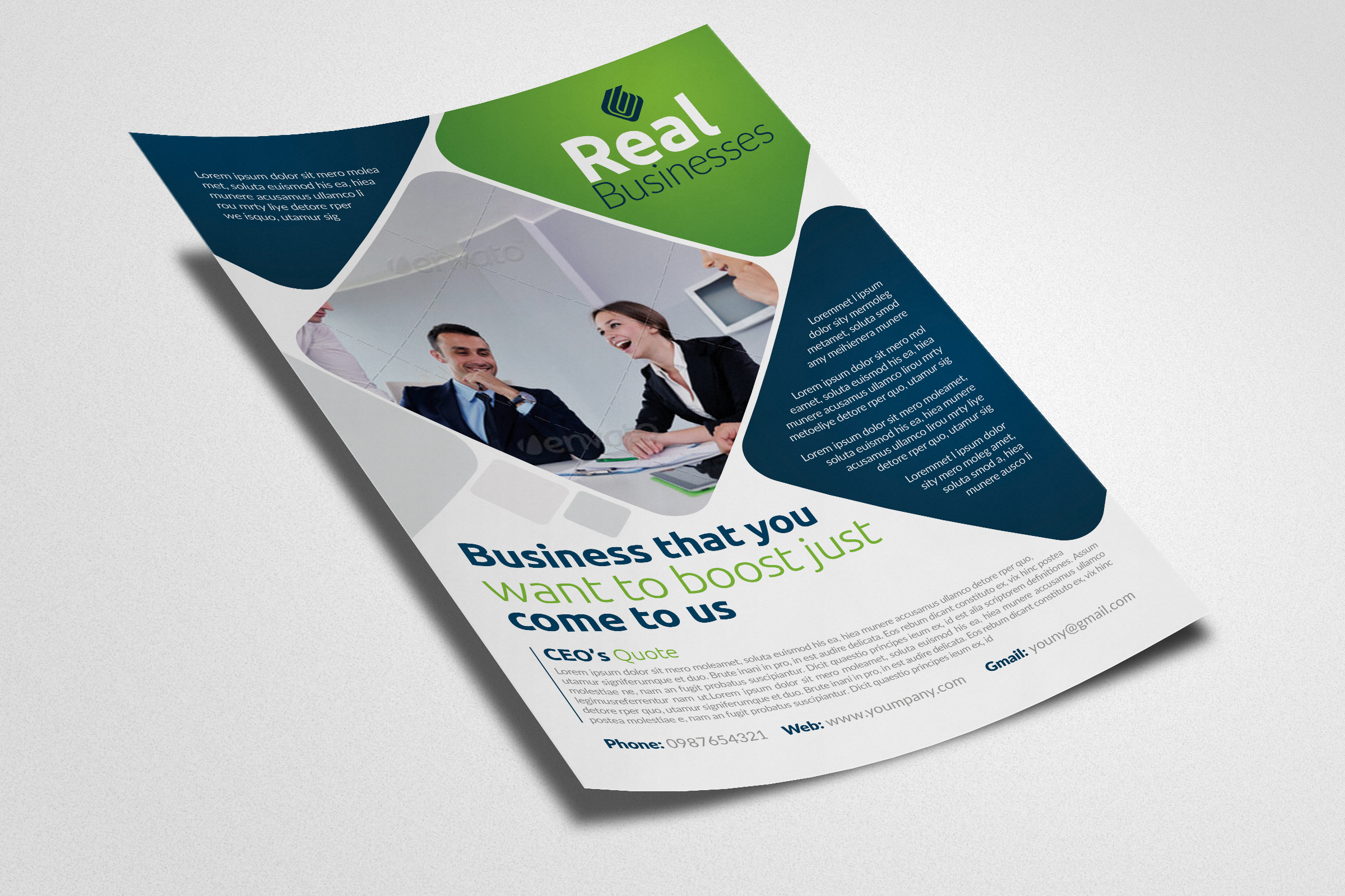 Business Solutions Consultant Flyer example image 3