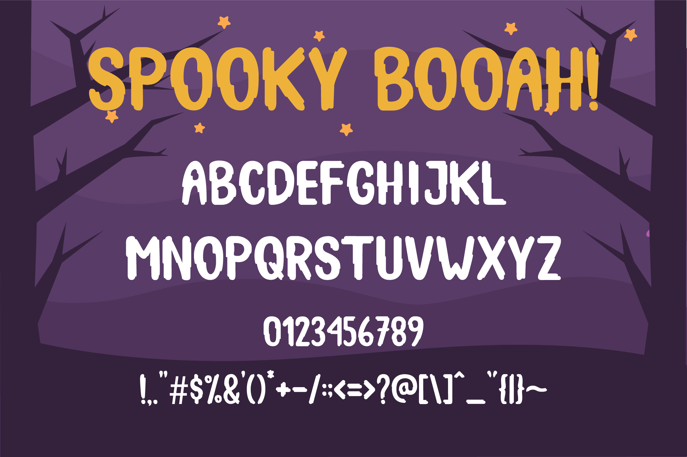 Spooky Booah! Font Display example image 5