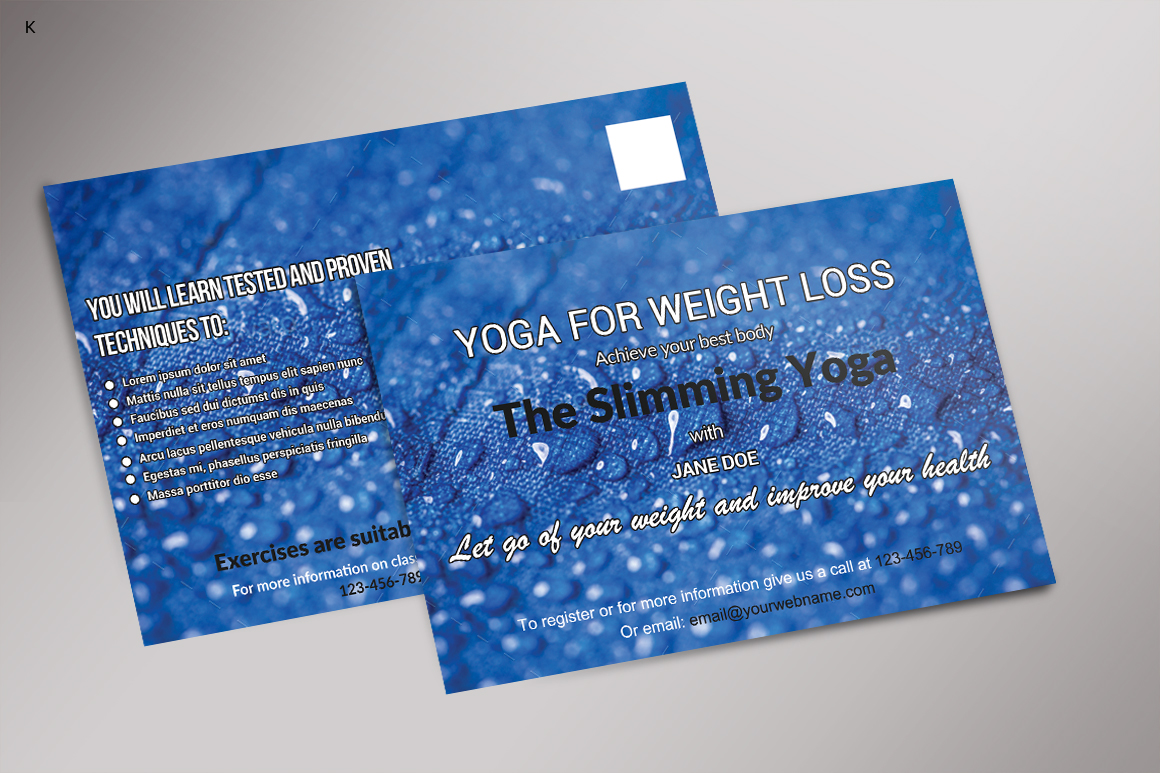 Fitness Post Card example image 3