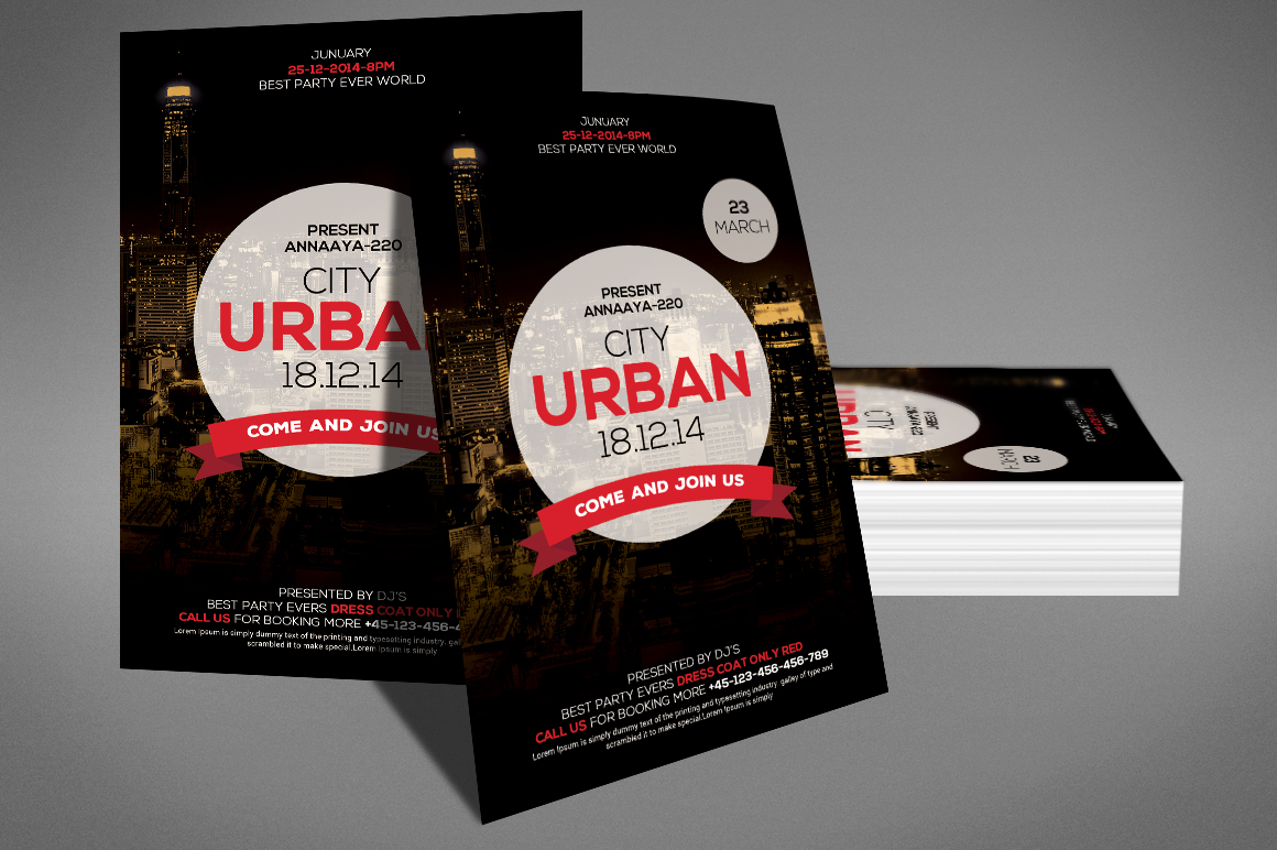 Urban City Party Flyer example image 3