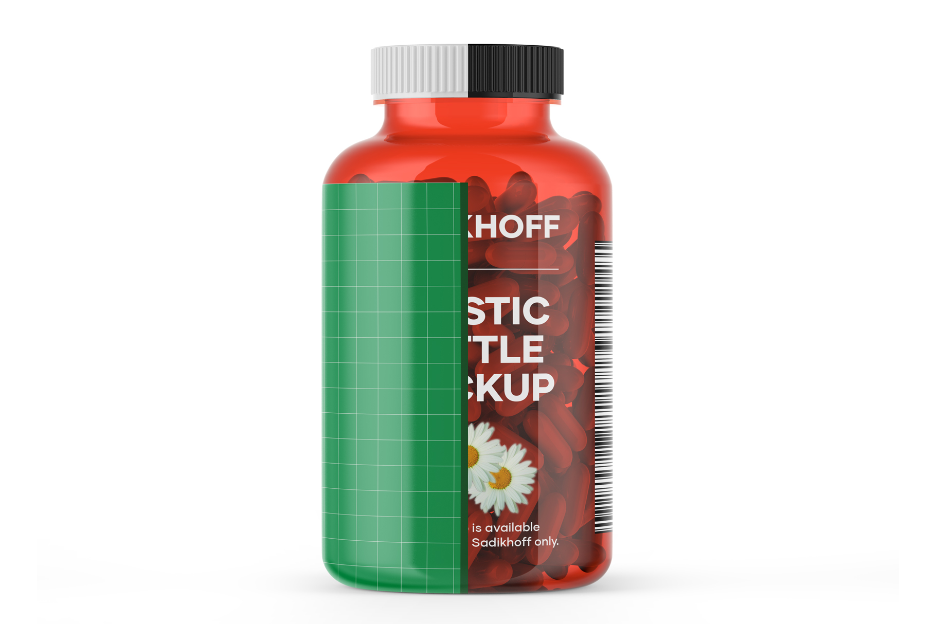 Clear Bottle With Capsules Mockup example image 4